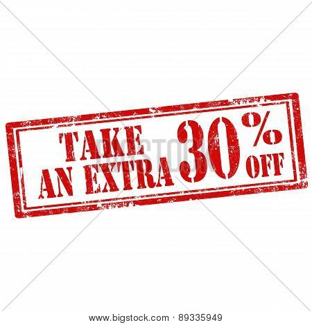 Take An Extra 30% Off-stamp