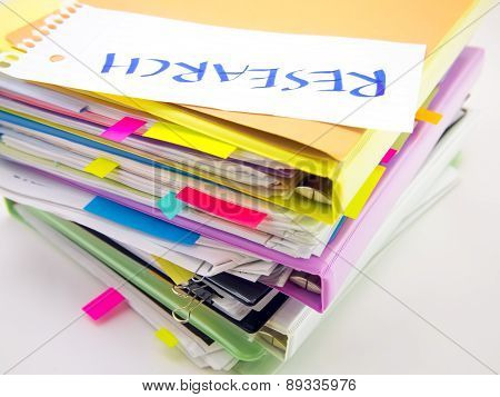 The Pile Of Business Documents; Research