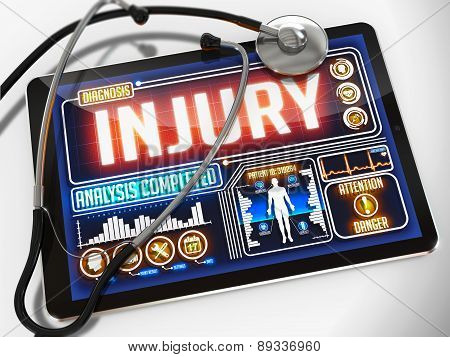 Injury on the Display of Medical Tablet.
