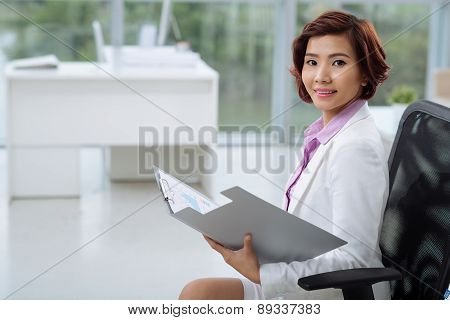 Attractive Asian business lady