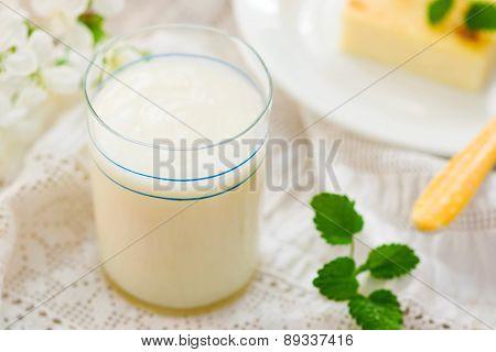Milk  Kissel. Russian Jelly-like Soft Drink