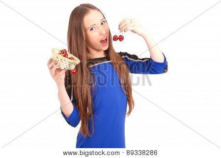 Girl Eating Cherries