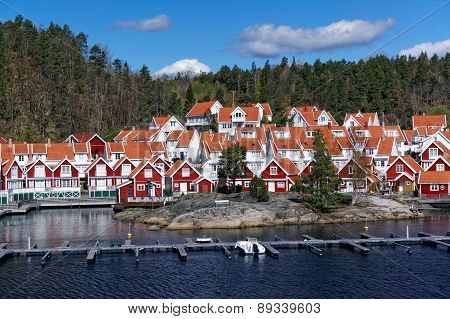 The Shore Of The Fjord And Norwegian City