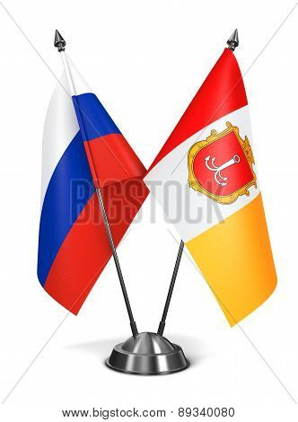 Russia and Luhansk People's Republic - Miniature Flags.