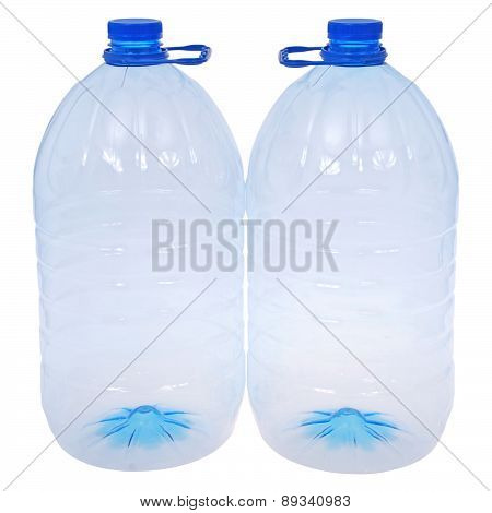 Two Big Bottles Of Water (clipping Path)