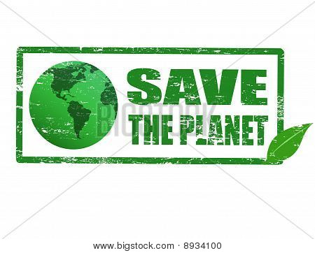 Save The Planet Stamp