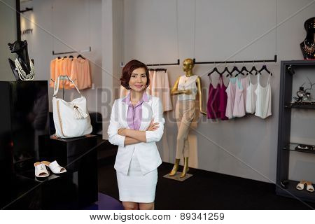 Female boutique owner