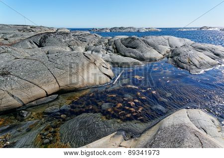 Norwegian Coast Line Of Sea In Nice Day