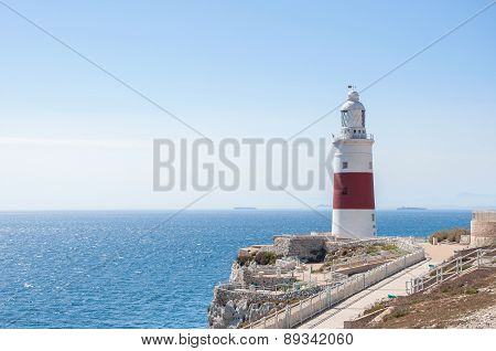 Europa Point Lighthouse On Gibraltar