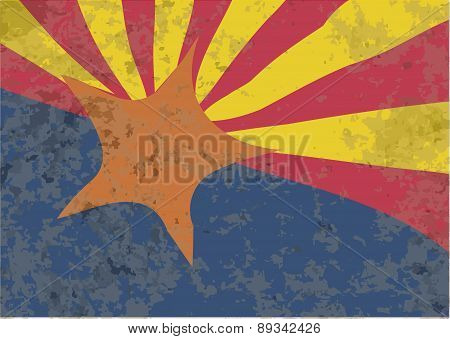 Arizona State Flag Grunge