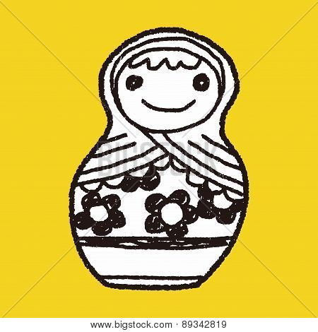 Doodle Russian Dolls