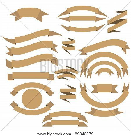 Ribbon or Banners Vector Collection