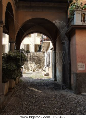 Quaint Italian Town Alley