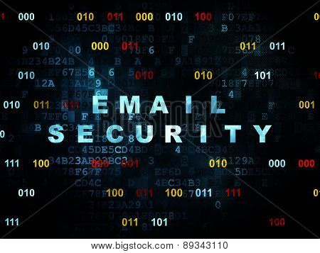 Protection concept: Email Security on Digital background