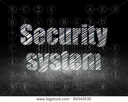 Privacy concept: Security System in grunge dark room