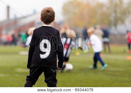 Boy During Soccer Match