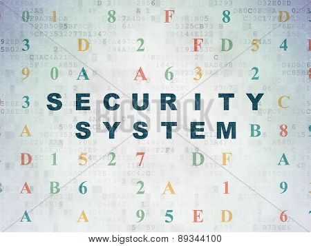 Security concept: Security System on Digital Paper background