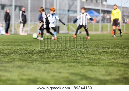 Blurred Kids Playing Football