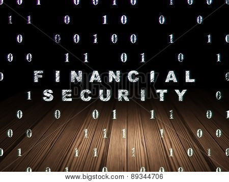 Privacy concept: Financial Security in grunge dark room