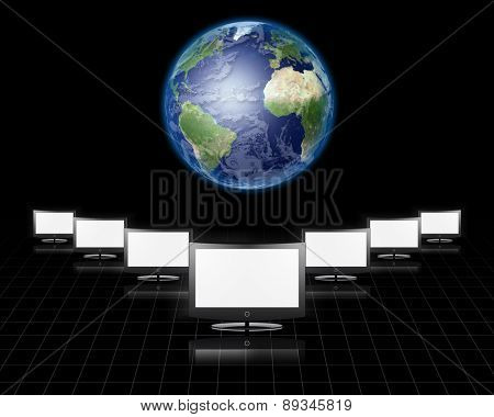 Global Communications Elements of this image furnished by NASA
