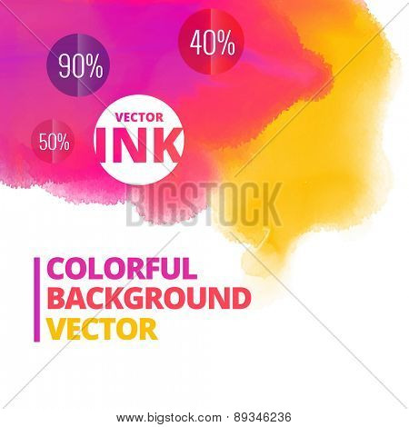 ink splash colors vector background design illustration