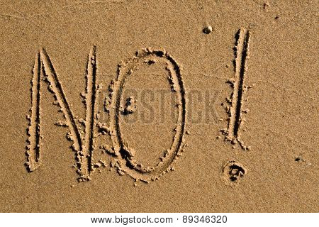 No Written In The Sand