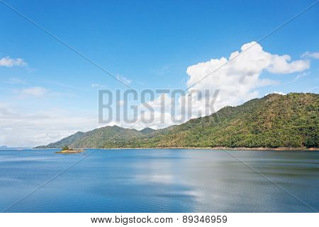 Scenic Landscape Near Khuean Srinagarindra National Park Kanchanaburi Thailand