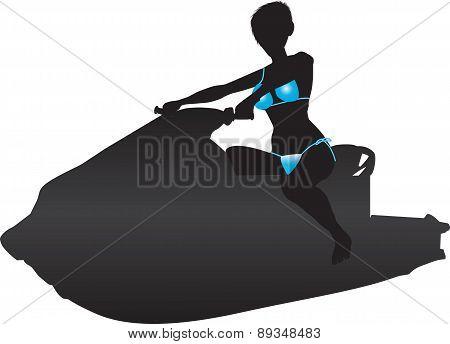 Jet Ski Silhouette