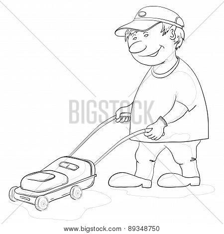 Lawn mower man, contours
