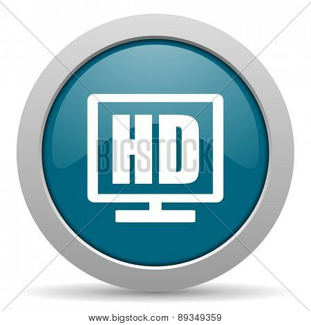 hd display blue glossy web icon