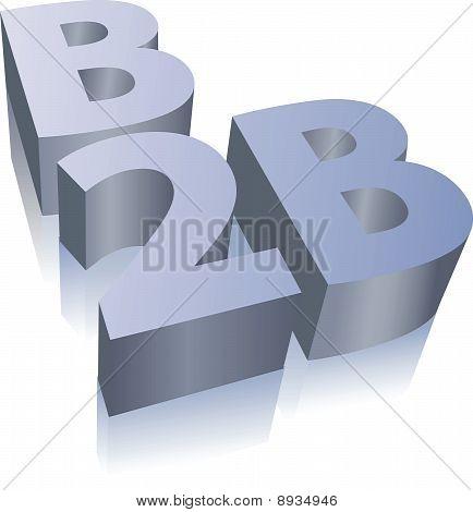 Símbolo de negocio de comercio electrónico B2B