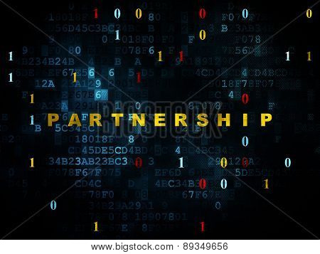 Business concept: Partnership on Digital background