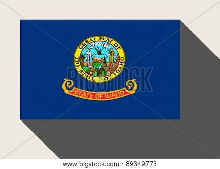 American State of Idaho flag in flat web design style.