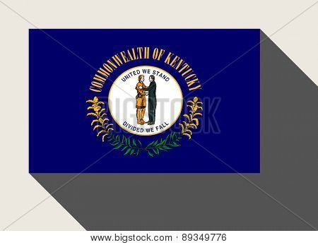 American State of Kentucky flag in flat web design style.