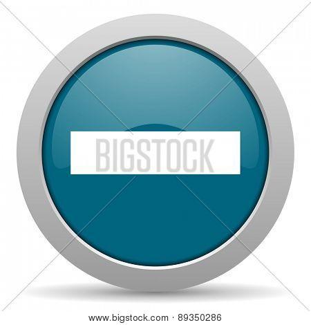 minus blue glossy web icon