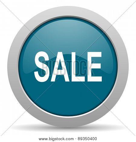 sale blue glossy web icon