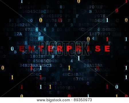Finance concept: Enterprise on Digital background