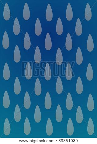 Blue abstract background with strawberry motif