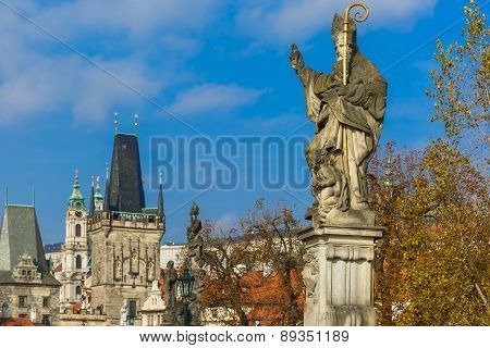 Statue of St. Augustine, Prague, Czech Republic