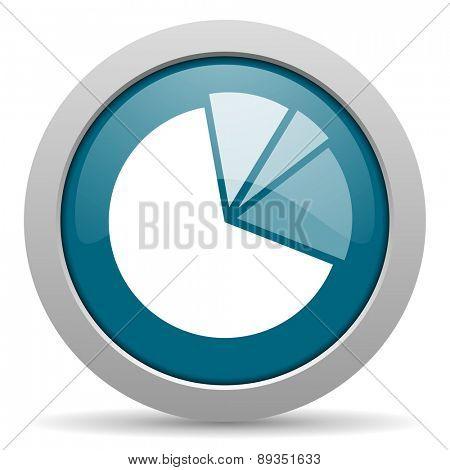 diagram blue glossy web icon