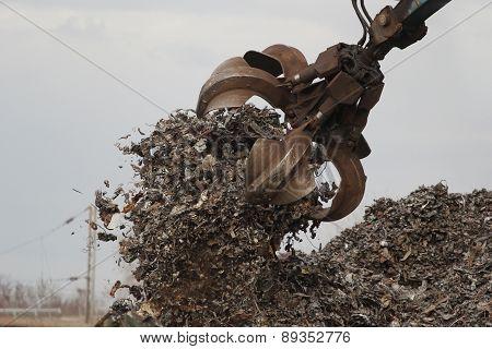 Grabber crane