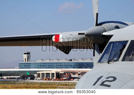 CASA 212 Military Plane, Malaga.