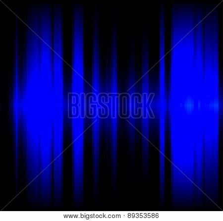 Blue wave light effect black background
