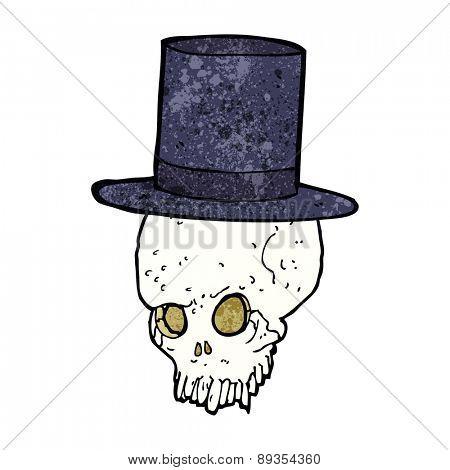 cartoon skull in top hat