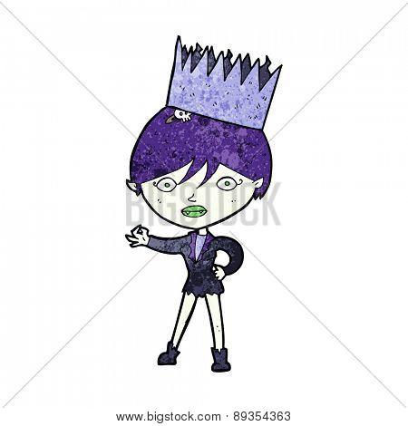 cartoon vampire wearing crown