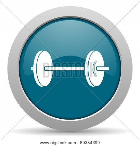 fitness blue glossy web icon