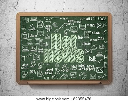 News concept: Hot News on School Board background