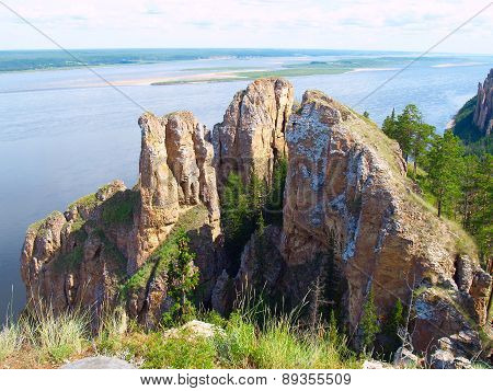 View Of The Lena River (national Park