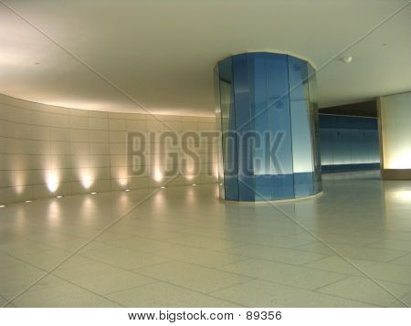 Blue Glass Column