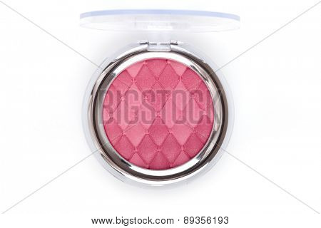 Pink blush isolated on white